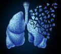 Lung illness Royaltyfri Bild