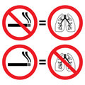 Lung protection from smoking sign Stock Photography