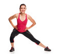 Lunge exercise fitness girl Royalty Free Stock Photo