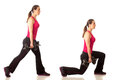 Lunge Exercise Royalty Free Stock Photo