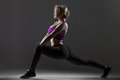 Lunge exercises for hips, buttocks and spine Royalty Free Stock Photo