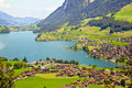 Lungern village in Switzerland Stock Image