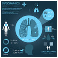 Lungs infographic infocharts health and medical background Stock Photo