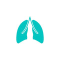 Lungs solid icon, organ and part of body