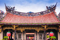 Lungshan Temple, Beautiful facade of chinese temple. Taipei, Tai