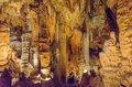 Luray caverns virginia this is an image of in with stalactites above Stock Images