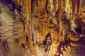 Luray caverns virginia this is an image of in with stalactites above Stock Photography