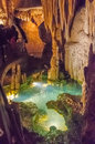 Luray caverns virginia this is an image of in with stalactites above Royalty Free Stock Photos