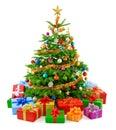 Bujný vánoční stromeček barvitý dárkové krabičky