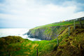 Lush green coastal landscape from dingle ireland Royalty Free Stock Images