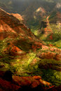 Lush Island of Kauai Hawaii Waimea Canyon Stock Photo