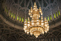 Lustre sultan qaboos mosque Photographie stock