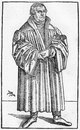 Luther in martin from a woodcut by cranach published life of by julius kostlin Stock Image