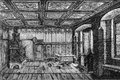 Luther s room inside the home of martin from an engraving published in life of by julius kostlin Stock Images