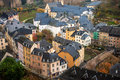 Luxembourg aerial view of city Stock Images