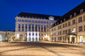 Luxembourg city administrative buildings Royalty Free Stock Photo