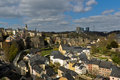 Luxembourg City Old Town Royalty Free Stock Photo