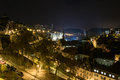 Luxembourg City skyline night Royalty Free Stock Photo