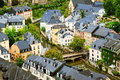 Luxembourg downtown the grub old traditional part of city Royalty Free Stock Photos