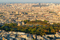 The luxembourg gardens in paris jardin du view from montparnasse tower Royalty Free Stock Photo