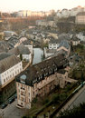 Luxembourg old town with and new buildings Stock Photos