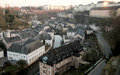 Luxembourg old town with and new buildings Royalty Free Stock Image