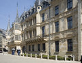 Luxembourg palace of the grand duke of luxembourg benelux countries now chamber deputies Stock Photos