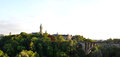 Luxembourg panorama on the bridge and the main castle in Royalty Free Stock Image