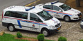 Luxembourg police vehicles Royalty Free Stock Photo