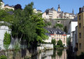 Luxembourg and River Royalty Free Stock Photography