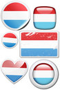 Luxembourg - Set of stickers and buttons Stock Images