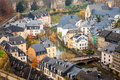 Luxembourg view of houses in Royalty Free Stock Image
