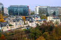 Luxembourg view of houses in Royalty Free Stock Photography