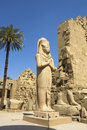 Luxor karnak temple in the egypt Stock Images
