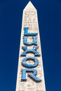 Luxor Las Vegas hotel and Casino Sign Royalty Free Stock Photo