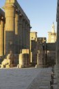 Luxor temple in egypt architectural detail of the ancient africa at evening time Royalty Free Stock Image