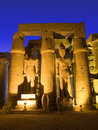 Luxor temple at night Stock Photos