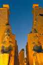 Luxor temple at night.(Egypt) Royalty Free Stock Photo