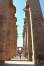 Luxor temple temle is the second biggest in city egypt Stock Photos