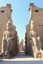Luxor temple temle is the second biggest in city egypt Stock Image