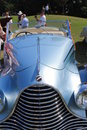 Luxurious antique french car front detail classic luxury close up top view talbot lago t at boca raton concours Stock Images