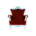 Luxurious armchair with clipng part Stock Photos