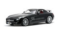 Luxurious black car front view Royalty Free Stock Photo