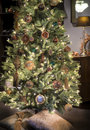 Luxurious christmas tree Stock Images