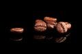 Luxurious coffee beans on black. Royalty Free Stock Photo
