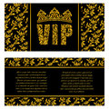 The luxurious design of the booklet. Inscription VIP of floral d