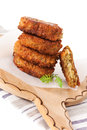 Luxurious falafel patty background. Royalty Free Stock Image
