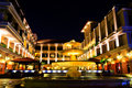 Luxurious Hotel of Malacca at Night Stock Images
