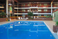 Luxurious hotel swimming pool Royalty Free Stock Photos
