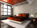 Luxurious interior of bedroom Stock Images